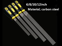 High quality carbon steel Wood File Steel File Rasp 6''/8''/10''/12  Flat Metal Files For Craft Carving Woodworking Tools