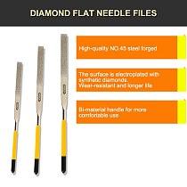 Stanley 1pcs flat files 140/160/180mm 150 grit diamond needle finishing tool multi-function hand file metal wood grinding tools