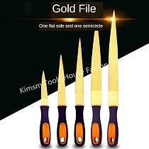 4/6/8/10/12 Inch Double-side Gold File Hardwood Carving Grinding Polishing Fine-Teeth File Carpenter Woodworking DIY Multi Tools