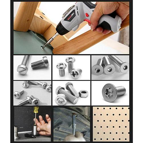Cordless Handheld Electric Screwdriver Set Household Nickel-chromium Rechargeable Drill Power Gun Tools