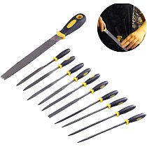 11Pcs Needle File Set, Alloy Steel Hand Metal File Rasp Tools for Wood/Soft Metal/Plastic and Hobby Projects