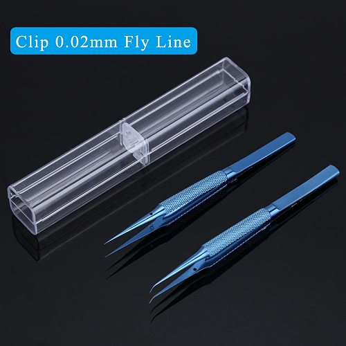 Titanium Alloy Precision Tweezers Clip 0.02mm Jump Line Tweezer for iPhone Motherboard Fly Line Fingerprint Repair Tools