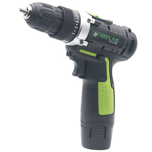 12V Dual Speed Rechargeable Electric Screwdriver Impact Driver Power Tool Cordless Drill with 1 Lithium Battery