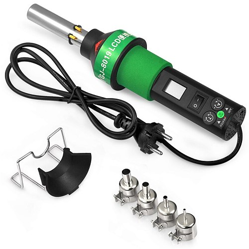Heat gun construction soldering hair dryer hot air station 8019LCD hot Air Gun 450~700W with 4 Nozzle industrial hair dryer