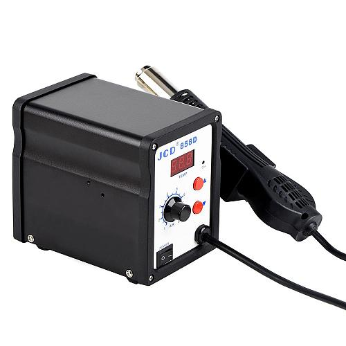 JCD Hot air gun 858D 2 in 1 soldering station 700W 110V 220V BGA Rework SMD SMT welding repair tool Heat gun LED Digital Solder