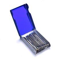 20Pcs 0.4-3mm Welding Nozzle Torch Tip Cleaner Gas Welding Brazing Cutting Torch Tip Cleaner Guitar Nut Needle Files Nozzle