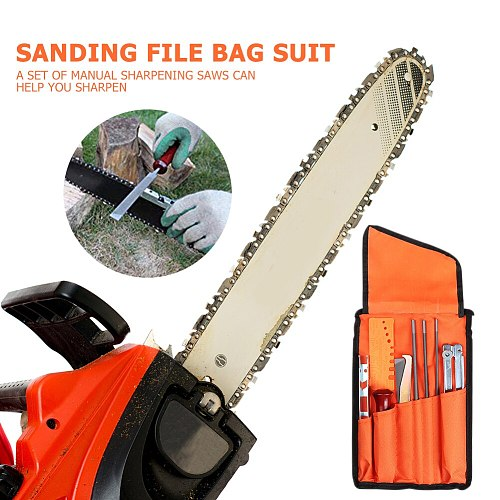 10pcs Chainsaw Sharpening Sanding File Tool Set for Woodworking Grinding