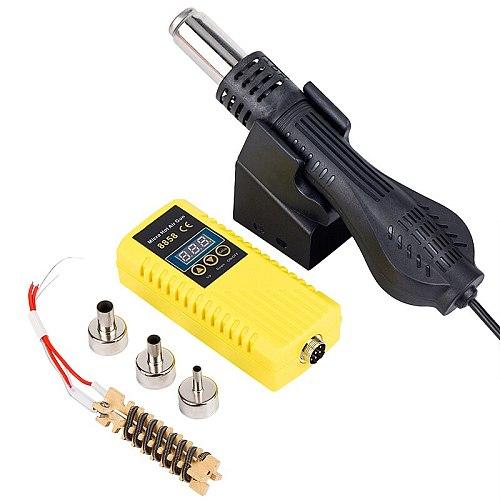 8858 Hot Air Guns Rework Soldering Station Micro LED Digital Hair Dryer for Soldering 700W Heat Gun Welding Repair Tools JCD