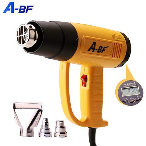 A-BF Industrial Hot Air Gun Digital Display Electric Heat Gun Plastic Welding Torch Hot Hair Dryer Car Foil Roasting 1600W/2000W