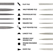Needle File Set, 6Pcs Wood Rasp and 10Pcs Diamond File Set, Mini Files for Metal, Wood, Plastic, Model, Jewerly