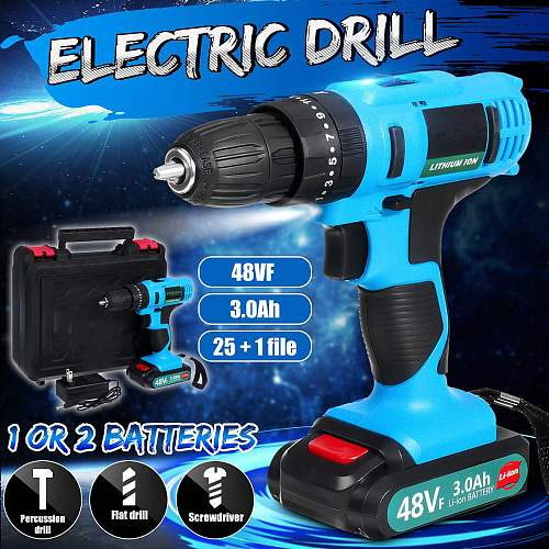 200W 240V Cordless Electric Drill Wood Metal Impact Electric Screwdriver Hand High Torque With Rechargeable Li-ion Battery
