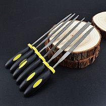 6x 140mm Mini Metal Rasp Needle Files Set Wood Carving Tools for Steel Rasp Needle Filing Woodworking Hand File Tool