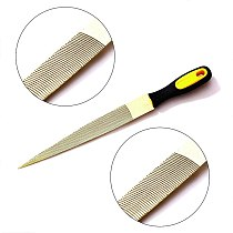 Gold Wood Rasp File Set 6 Inch,8 Inch and 10 Inch Wood File Hand Grip Handles for Wood Soft Metal Plastic(3 Pcs)