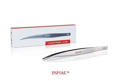 DSPIAE AT-Z02 HG Angled Tweezers Flat-Tipped Tweezer Modeling Hobby Craft Tools Accessory