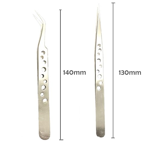 Electronics Industrial Tweezers Anti-static Curved Straight Tip Precision Stainless Forceps Phone Repair Hand Tools Sets