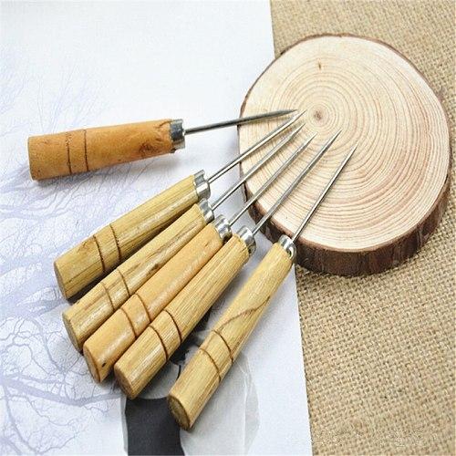 5pcs Sewing Needles Shoe Repair Kit Awl Leather Craft Tool