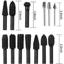 Woodworking Drill Bits 30Pcs/Pack Multifunctional Drill Bit Set,Twist Drill Bits Carving Knife Grinder Rotary File
