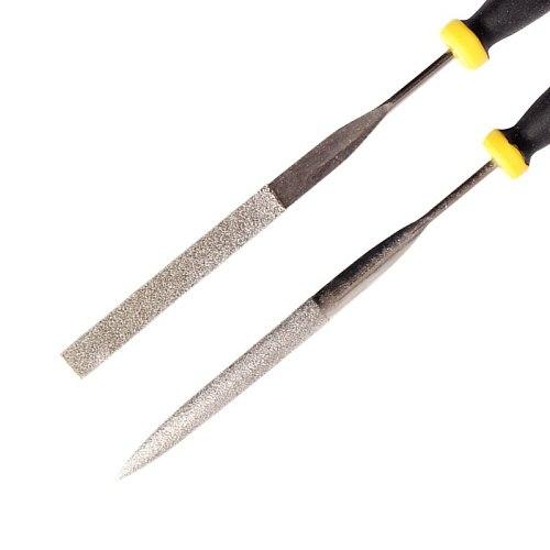 6Pcs Mini Diamond Needle Files Set 3*150mmRound Square Flat Triangle Taper Half Round Hand Tool Set