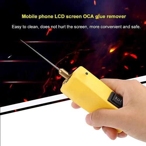 Hot Glue Clean Machine CJ6+ 100-240V US OCA Glue Remover Tool For Mobile Phone LCD Screen Repair With Electro-Motor US EU Plug