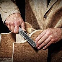 2Pcs 4 Way Wood Rasp File Hand File and Round Rasp Half Round Flat Wood Rasp Set for Sharpening Wood and Metal Tools