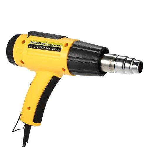 AC220 Digital Electric Hot Air Gun Temperature-controlled Building Hair dryer Heat gun Soldering Tools Adjustable+ Nozzle