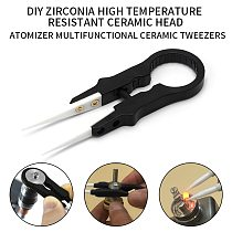 Hot Heat Resistant DIY Multifunctional Screwdriver Pointed Ceramic Tweezers Stainless Steel Handle Electronic Equipment