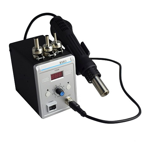 Eruntop 858D Advanced Lead-free SMD Rework Soldering Station LED Digital  Hot Air GUN Blowser