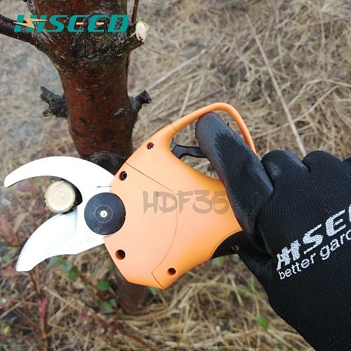 HISEED electric scissors F35 800g on hand 35mm cutting electric pruning shears, garden and vineyard electric secateurs