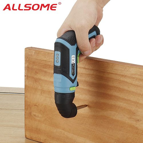 ALLSOME Tonfon 4 In 1 Multifunction 3.6V Lithium Mini Cordless Electric Screwdriver Electric Cutter Offset Angle Right Angle