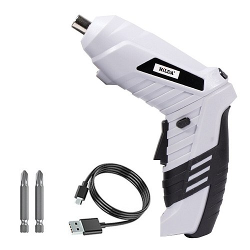 Cordless Electric Screwdrivers Rechargeable Power Strong Toughness Electric Portable Battery Drill with LED Light Power Tools