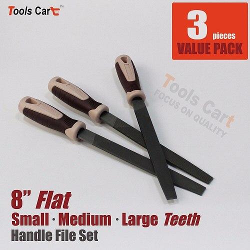 flat file set grinder carbon steel household hand tool home 8  metalwork woodworker hardwood maintenance engineer mechanic kit