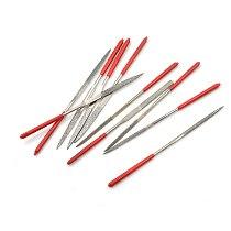 New 10Pcs/Set Titanium Diamond Coating Needle Flat File Set Metal Working Craft Tools Wholesale