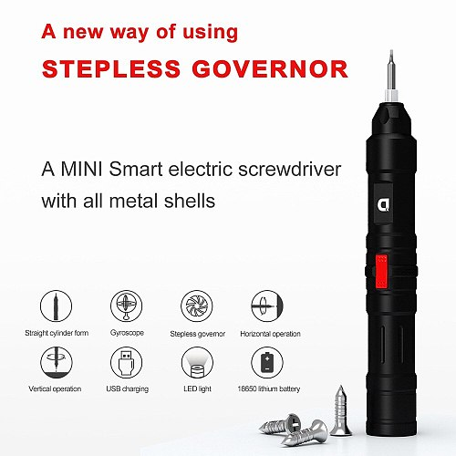 X2 Super Power 30kg f.cm Precision Electric Screwdriver Smart Motion Control With 18 Scewdriver Bits Led Light 18650 Battery