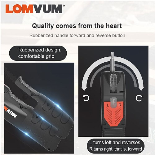 LOMVUM Mini Electric Screwdriver Rechargeable Hand Drill USB Multi-function Cordless Screw Driver For Household