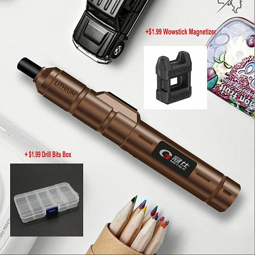Wowstick 1S 1FS Style 13NM Super Power Mini Electric Screwdriver 1300AMH Lthium Battery Power with Gift forMobile Phone