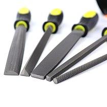 5pcs Wood File Rasp Metal File Set 6''/8''/10'' Flat/Triangle/Round/Square/Half-round Shape Steel Files Craft Woodworking Tools