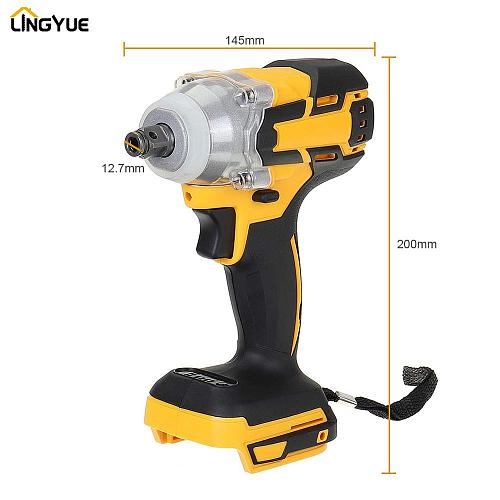 lingyue Cordless Electric Impact Wrench Can be used with Makita 18v battery Impact Drill Brushless 300N.m  with LED Light