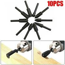 10 pcs 1/4'' 6mm Steel Shank Rotary Burr Set Wood Rasp File Drill Bits Rotary Rasp Set for Woodworking