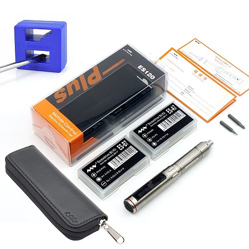 ES120 Plus Mini Precision Cordless Electric Screwdriver Smart Motion Control Power Screwdriver 16pcs 4mm Hex Bits Set