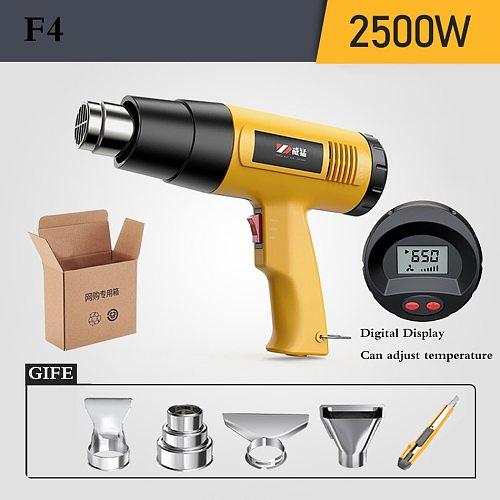 220V Heat Gun 2500W Variable Temperatures Advanced Electric Hot Air Gun with Four Nozzle Attachments Power Tool
