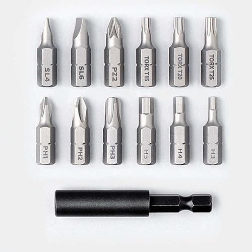 XIAOMI Mijia Cordless Rechargeable Screwdriver 3.6V 2000mAh Li-ion 5N.M Electric Screwdriver With 12Pcs S2 Screw Bits For Home