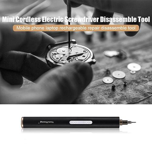 Mini S2 Alloy Parafusadeira Rechargeable Electric Cordless Screwdriver Manual/Automatic Notebook Phone Disassemble Repair Tool