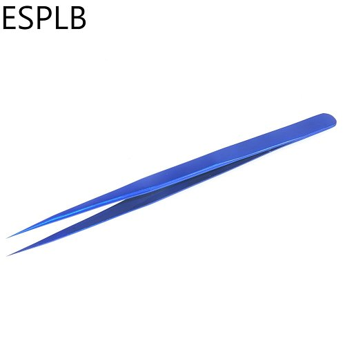 ESPLB Ultra Thin Slim Tweezers Flying Line Blue Stainless Steel Sharp Hardened Industry Tweezers Mobile Phone Repair Hand Tools