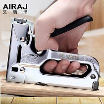 AIRAJ 3-in-1 Heavy-Duty Nail Gun, Household Decoration Furniture DIY Stapler Multifunction Manual Tools with Staples Nailers