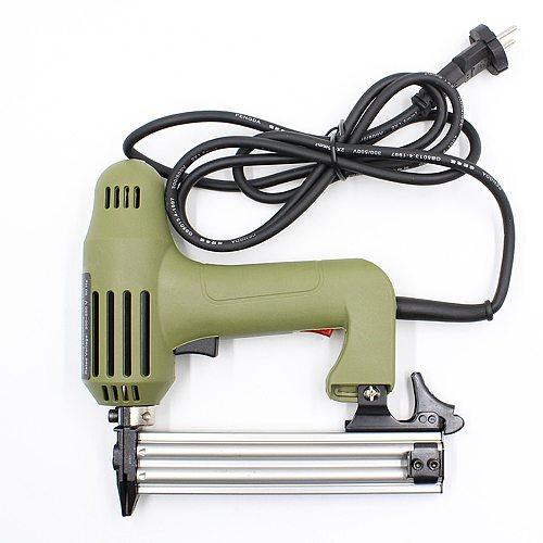 2 In 1 Electric Nail Gun 220V 1750W Straight Staple Gun Stapler for Furniture Frame Electric Tacker 5/10/15/20/25/30mm Nails