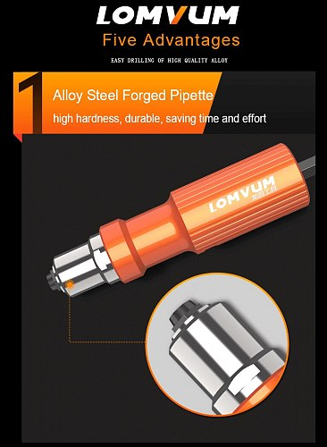 Electric Insert Rivet Nut Gun Pop Riveting Drill Tool Cordless Adaptor Nozzle Riveted Pneumatic Blind Rivet Adapter