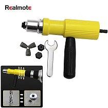 Electric Pull Rivet Nut Conversion Tool Insert Riveting Adapter Gun Set Power Cordless Drill Hand Riveter Nail Accessory