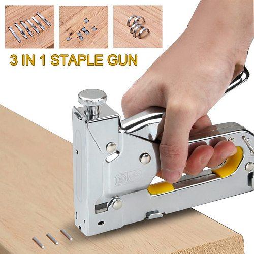 3 In 1 Multitool Nail Staple  Furniture Stapler Tools For Furniture Wood Door Upholstery Framing  Rivet Tool