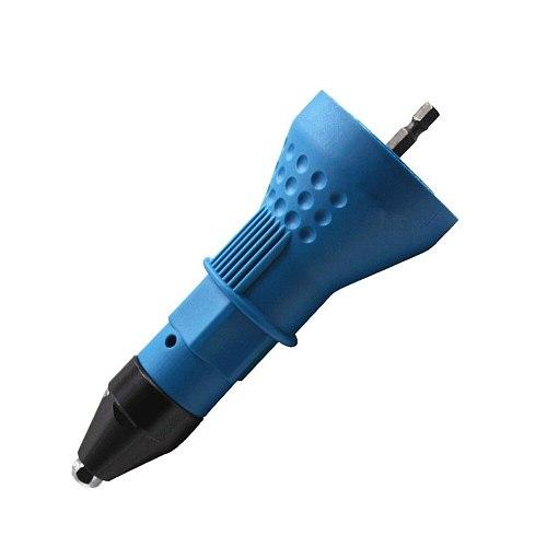 Electric Screw Gun Riveting Gun Nut Gun Cordless Riveting Drill Bit Adapter Insert Nut Riveting Drill Bit Adapter 2.4mm-4.8mm