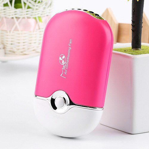 Popular New 250mA Rechargeable Portable Mini Handheld Air Conditioning Cooling Fan USB Cooler